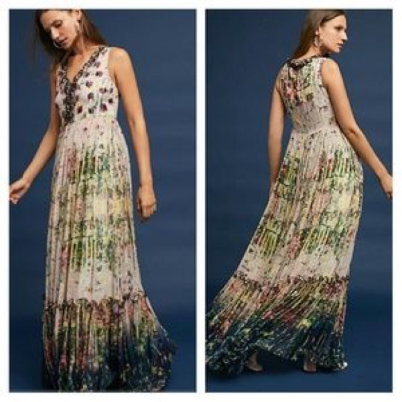 9256cc7aa0df5 Anthropologie Dresses | Anthro Cydney Tiered Maxi Dress Sz 10 By ...